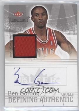 2004-05 Fleer Throwbacks Defining Authentic Silver Jersey Autographs #DAA-BG - Ben Gordon /50
