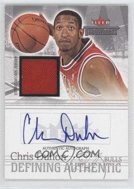 2004-05 Fleer Throwbacks Defining Authentic Silver Jersey Autographs #DAA-CD - Chris Duhon /149
