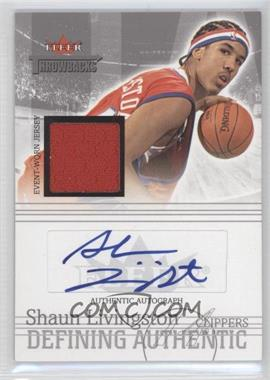 2004-05 Fleer Throwbacks Defining Authentic Silver Jersey Autographs #DAA-SL - Shaun Livingston /50