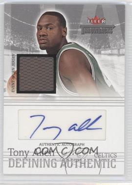 2004-05 Fleer Throwbacks Defining Authentic Silver Jersey Autographs #DAA-TA - Tony Allen /199