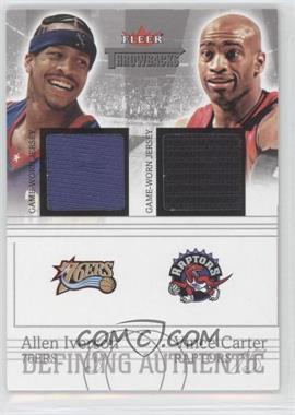 2004-05 Fleer Throwbacks Defining Authentic Silver Jerseys Dual #DAD-AI/VC - Allen Iverson, Vince Carter /99