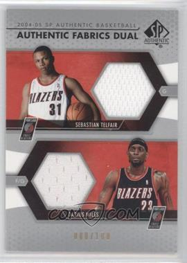 2004-05 SP Authentic - Authentic Fabrics Dual #AF2-TM - Darius Miles, Sebastian Telfair /100