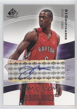 2004-05 SP Game Used - SIGnificance #SIG-JM - Jerome Moiso /100