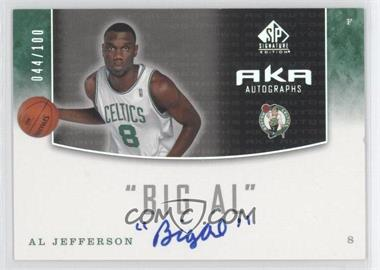 2004-05 SP Signature Edition AKA Autographs [Autographed] #AKA-AL - Al Jefferson /100