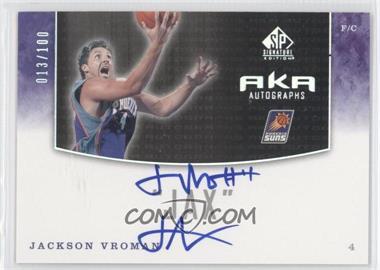 2004-05 SP Signature Edition AKA Autographs [Autographed] #AKA-JV - Jackson Vroman /100