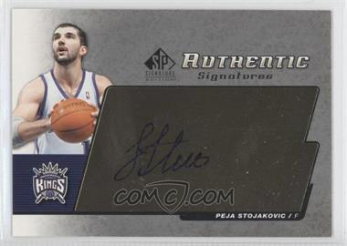 2004-05 SP Signature Edition Authentic Signatures [Autographed] #AS-PS - Peja Stojakovic