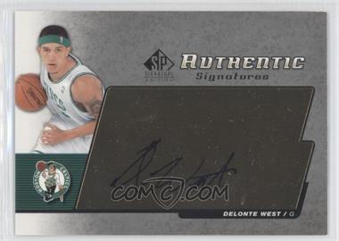 2004-05 SP Signature Edition Authentic Signatures [Autographed] #AS-WE - Delonte West
