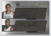 Delonte West, Tony Allen /100