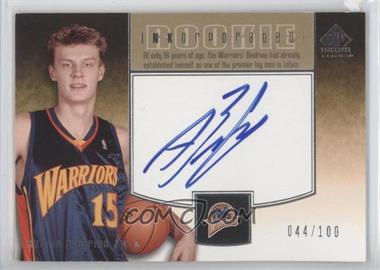 2004-05 SP Signature Edition Rookie INKorporated [Autographed] #RI-AB - Andris Biedrins /100