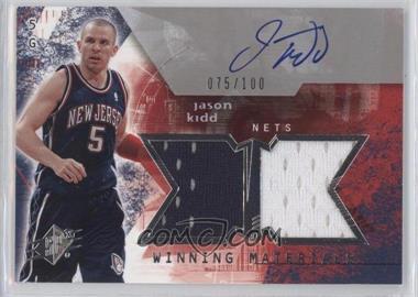 2004-05 SPx - Winning Materials - Autograph [Autographed] #WMA-JK - Jason Kidd /100