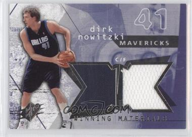 2004-05 SPx Winning Materials #WM-DN - Dirk Nowitzki