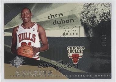 2004-05 SPx #114 - Rookies - Chris Duhon /99