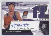 Autographed Rookie Jersey - Jackson Vroman /1999