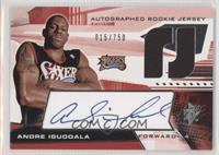 Autographed Rookie Jersey - Andre Iguodala /750