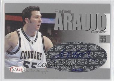 2004-05 Sage Autographed Basketball - Authentic Autograph - Silver #A2 - Rafael Araujo /200