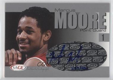 2004-05 Sage Autographed Basketball - Authentic Autograph - Silver #A20 - Marcus Moore /330