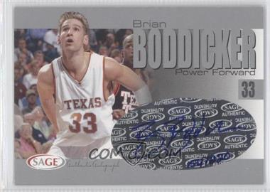 2004-05 Sage Autographed Basketball - Authentic Autograph - Silver #A3 - Brian Boddicker /220