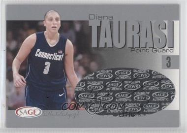 2004-05 Sage Autographed Basketball - Authentic Autograph - Silver #A32 - Diana Taurasi