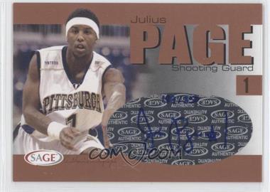 2004-05 Sage Autographed Basketball Authentic Autograph Bronze #A24 - Julius Page /350