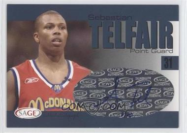 2004-05 Sage Autographed Basketball Authentic Autograph Player Proof #A33 - Sebastian Telfair