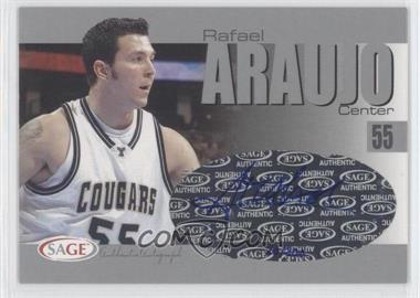 2004-05 Sage Autographed Basketball Authentic Autograph Silver #A2 - Rafael Araujo /200