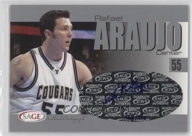 2004-05 Sage Autographed Basketball Authentic Autograph Silver #A2 - Rafael Araujo /200
