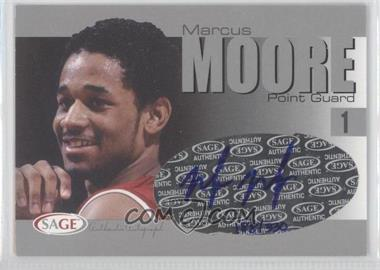 2004-05 Sage Autographed Basketball Authentic Autograph Silver #A20 - Malik Moore /330