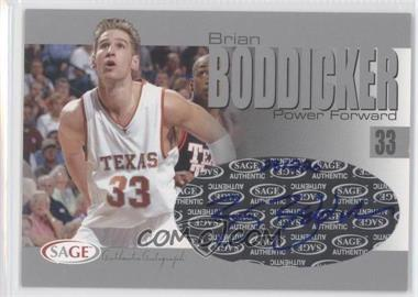 2004-05 Sage Autographed Basketball Authentic Autograph Silver #A3 - Brian Boddicker /220