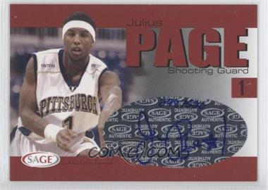 2004-05 Sage Autographed Basketball Authentic Autograph #A24 - Julius Page /520