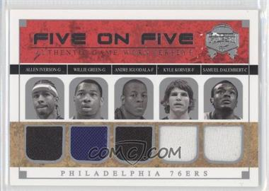2004-05 Skybox Fresh Ink Five On Five Jerseys #N/A - [Missing] /199