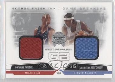 2004-05 Skybox Fresh Ink Game Breakers Jerseys Non-Numbered #GB-DW/CA - Dwyane Wade, Carmelo Anthony