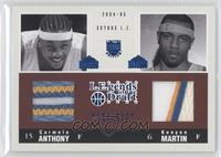 Carmelo Anthony, Kenyon Martin /10