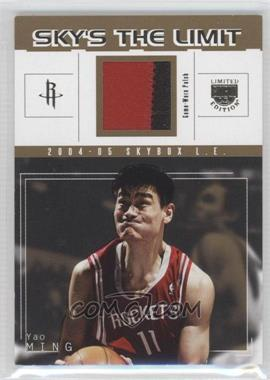 2004-05 Skybox L.E. Sky's the Limit Patches #SL-YM - Yao Ming /25