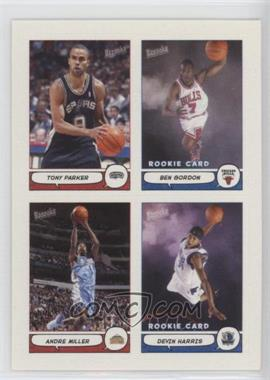 2004-05 Topps Bazooka 4-on-1 Stickers #23 - Tony Parker, Ben Gordon, Andre Miller, Devin Harris