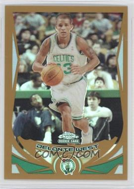2004-05 Topps Chrome Gold Refractor #189 - Delonte West /99
