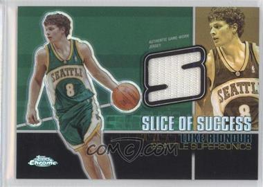 2004-05 Topps Chrome Slice Of Success Refractor #SS-LR - Luke Ridnour /25