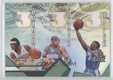 2004-05 Topps Luxury Box - Three-Point Play Relics - Loge Level #TPP-AMM - Carmelo Anthony, Kenyon Martin, Andre Miller /75