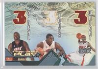 Shaquille O'Neal, Eddie Jones, Dorell Wright /30