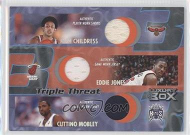 2004-05 Topps Luxury Box - Triple Threat Relics #TT-CJM - Josh Childress, Cuttino Mobley, Eddie Jones /450