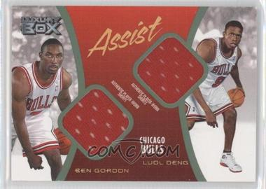 2004-05 Topps Luxury Box Assist Relics Loge Level #AS-GD - Ben Gordon, Luol Deng /75