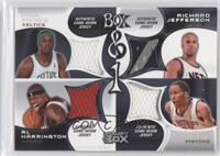 Paul Pierce, Richard Jefferson, Al Harrington, Tayshaun Prince #141/200