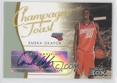 2004-05 Topps Luxury Box Champagne Toast Loge Level [Autographed] #CT-EO - Emeka Okafor /30