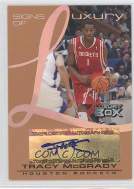 2004-05 Topps Luxury Box Signs of Luxury Tier Reserved [Autographed] #SL-TM - Tracy McGrady /75