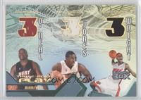 Shaquille O'Neal, Eddie Jones, Dorell Wright /30