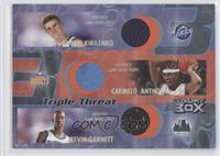 Andrei Kirilenko, Carmelo Anthony, Kevin Garnett /450