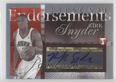 2004-05 Topps Pristine Personal Endorsements #PE-KS - Kirk Snyder