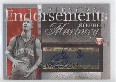 2004-05 Topps Pristine Personal Endorsements #PE-SMA - Stephon Marbury