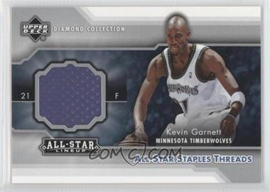 2004-05 Upper Deck All-Star Lineup - All-Star Staples Threads #STT-KG - Kevin Garnett