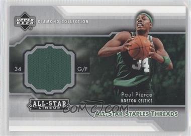 2004-05 Upper Deck All-Star Lineup - All-Star Staples Threads #STT-PP - Paul Pierce