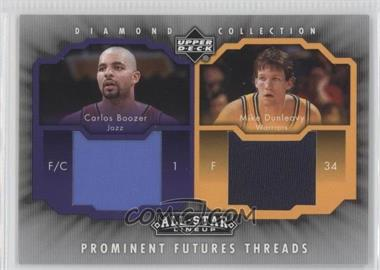 2004-05 Upper Deck All-Star Lineup - Prominent Futures Threads #PFT-BD - Carlos Boozer, Mike Dunleavy